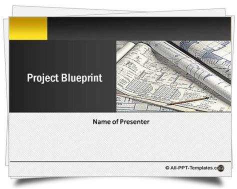 Powerpoint Project Blueprint Template Template For Project Presentation