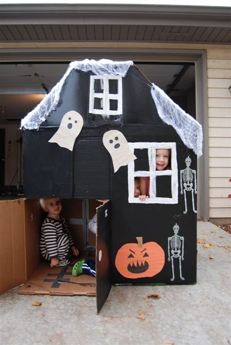 How To Make A Haunted House Out Of Paper - home with lindsay haunted cardboard house