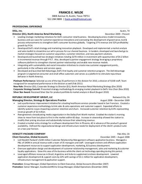 francis wilde resume march 12