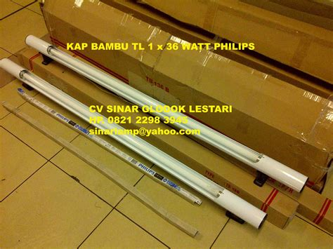 Lu Tl Led Philips 18 Watt kap lu tl kap tl bambu 1 x 36 watt philips