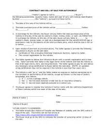 template for selling a car doc 600730 selling a car on payments contract