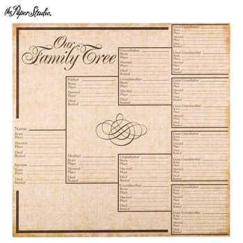 How To Make A Family Tree On Paper For - family tree scrapbook paper 12 quot x 12 quot hobby lobby 233445