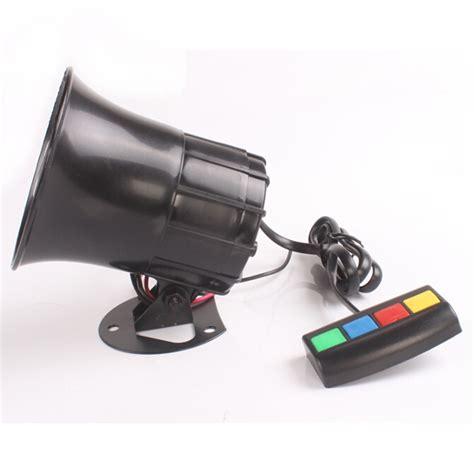 boat horn alarm sound waterproof 4 sounds car motorcycle loudspeaker horn alarm