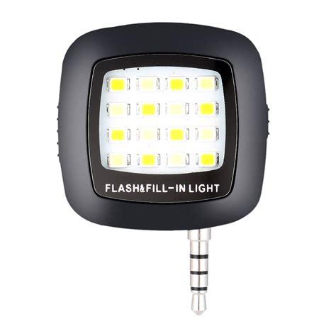 Lu Selfie Flash Light Led 16 Universal Smartphone Android Iphone universal portable mini 16 led external flash fill light