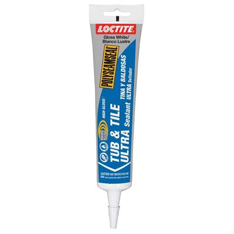 bathroom caulk reviews shop loctite polyseamseal 6 oz white paintable tub and