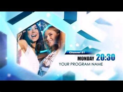 After Effects Template Snowflakes Tv Bumper Youtube Template Bumper After Effect Free