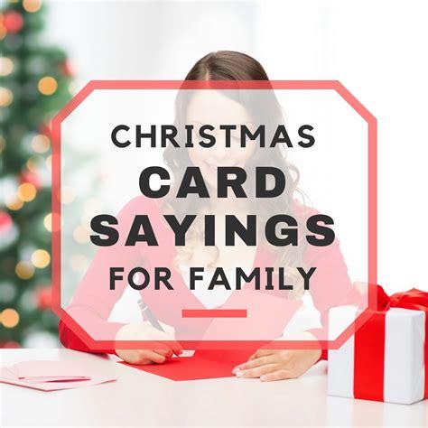 christmas card sayings  family