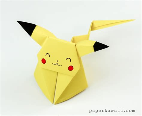 What Is Origami Paper Made Of - origami pikachu tutorial origami paper