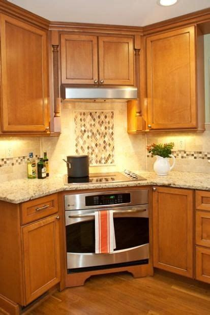 kitchen layout with stove in the corner corner cooktop and oven cultivate interesting design