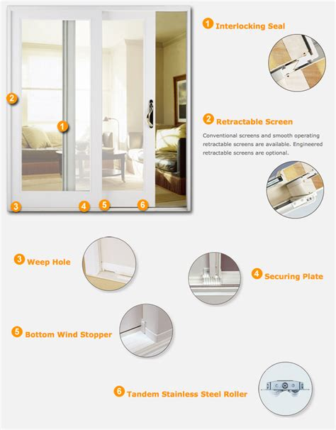 Sliding Door Weep Holes by Sliding Glass Patio Doors Exovations