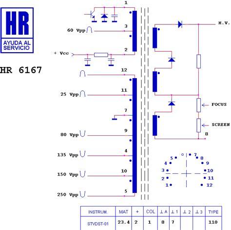 Flyback Tv Sharp Tabung line output transformer flyback hr6167 hr 6167