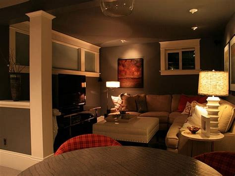 cozy basement living room sofa and carpet flooring sofa home
