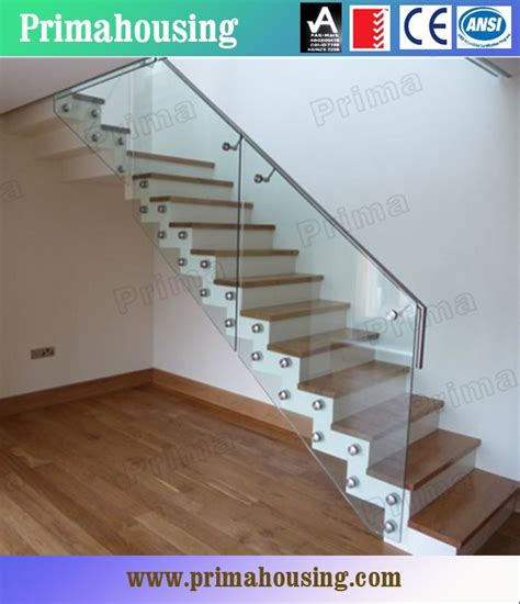 indoor glass stair railings for staircase glass railing