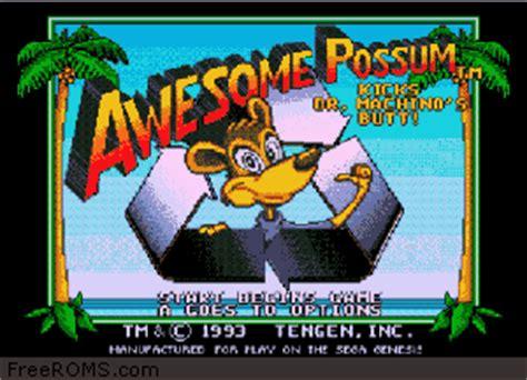 awesome possum genesis awesome possum genesis rom