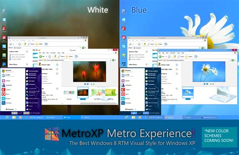 windows 8 1 themes for windows xp free download metroxp v1 1 windows 8 rtm visual style for xp by