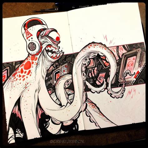 sketchbook inktober 17 best images about creaturebox on behance