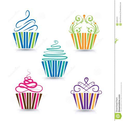 cupcakes set stock vector image 60954370