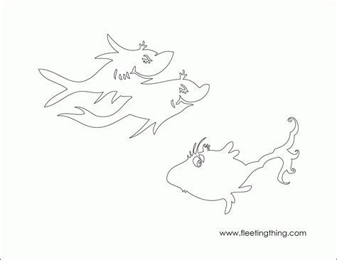 blue fish coloring pages one fish two fish red fish blue fish coloring page high