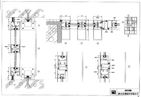 curtain wall cad detail cad library