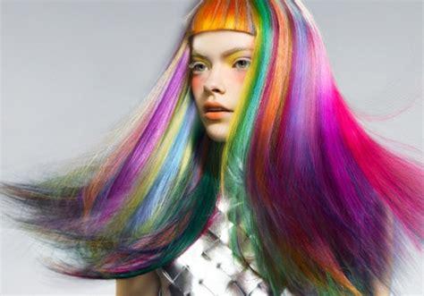 rainbow hairstyling pin rainbow hair color on