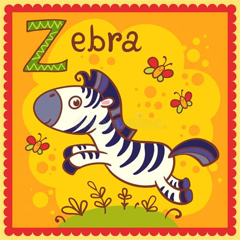 the illustrated a z of illustrated alphabet letter z and zebra stock vector illustration of classroom africa 33326645
