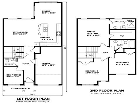 Two Story Floor Plans Simple Small House Floor Plans Two Story House Floor Plans Single Story House Plans With Garage