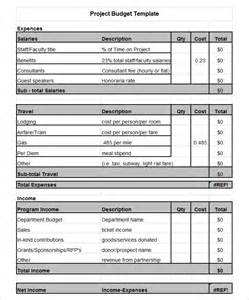 Project Budget Template by Project Budget Template 3 Free Word Pdf Documents