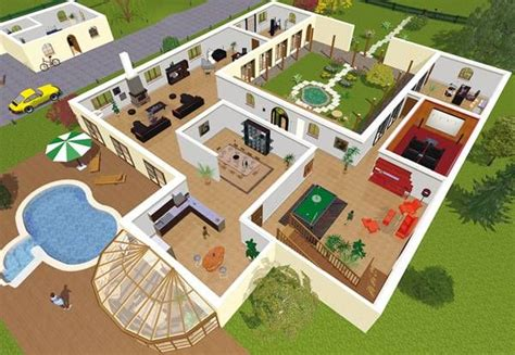 home design 3d jeux plan maison 3d en ligne 1 jpg 600 215 415 house plans