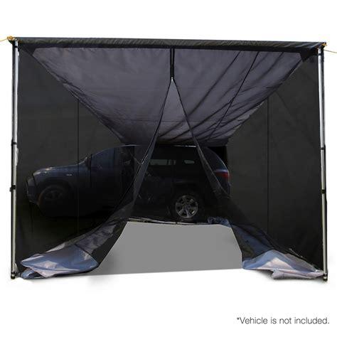 Cer Awning Screen 2 5x3m car awning mesh screen grey