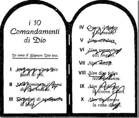 tavole dei 10 comandamenti i nuovi 10 comandamenti paperblog