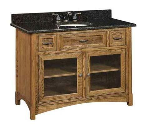 cv amish vanities sl wllv49g amish built bathroom
