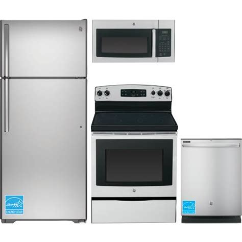 ge stainless steel kitchen appliance package ge gte18gsh stainless steel complete kitchen package