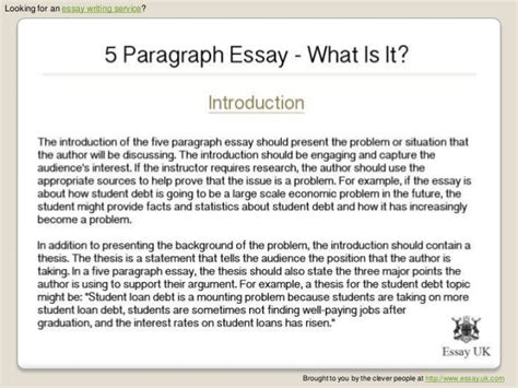 Five Paragraph Essay Length by Outline Format For A 5 Paragraph Essay