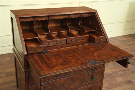 desk with lots of storage antiqued wood slant desk with interior drawers and pigeon