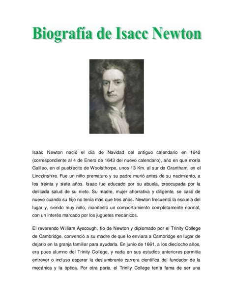 isaac newton biography powerpoint biografia newton