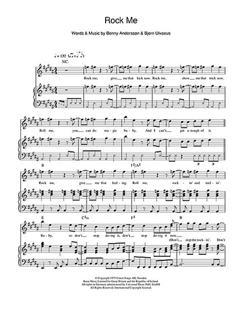 new year flute sheet rock me sheet by abba piano vocal guitar right