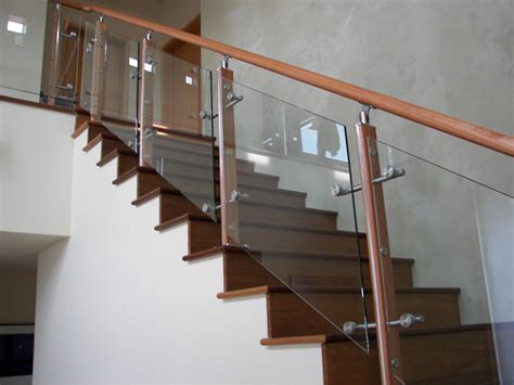 Glass Stair Banisters by Glass Stair Railing Steel Equipment Manufacturer Company