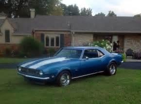 1968 blue camaro 1968 camaro ss 396 factory 4 speed lemans blue with