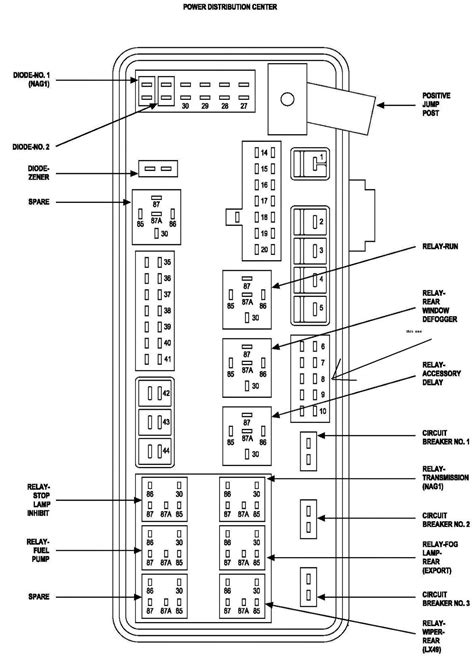 2004 Dodge Durango Fuse Box Diagram Untpikapps