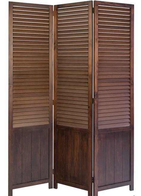 slatted room divider paravent wooden slat room divider screen brown 3 panel