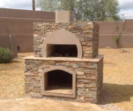 Build A Wood Fired Pizza Oven In Your Backyard stone wood fired pizza oven anthem az desert crest llc