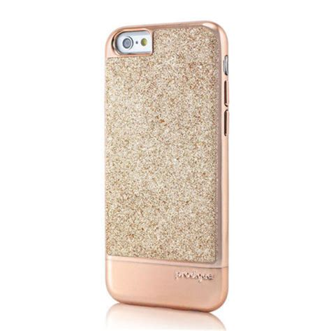 prodigee sparkle fusion iphone   glitter case rose gold
