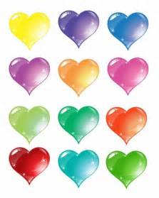 colorful hearts colorful vector set free vector graphics
