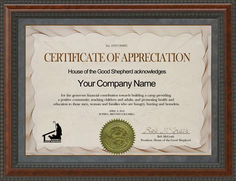 certificate of appreciation for sponsorship template mgins ca