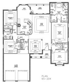 split bedroom floor plans home planning ideas 2017
