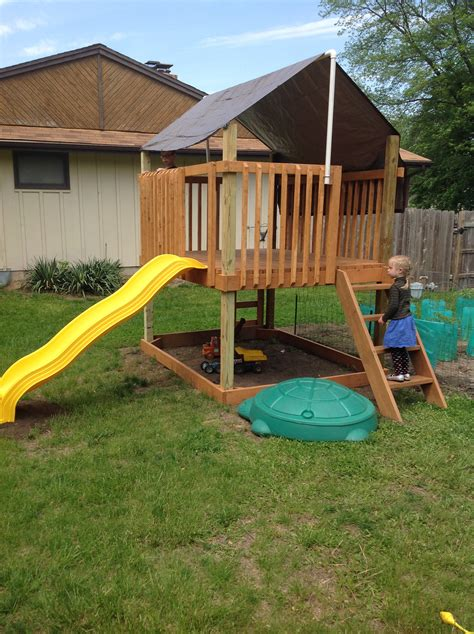ana white play deck fort diy projects