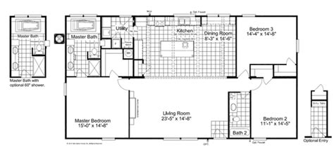 the rockwell ii 28523r manufactured home floor plan or the rockwell ii 28523r manufactured home floor plan or