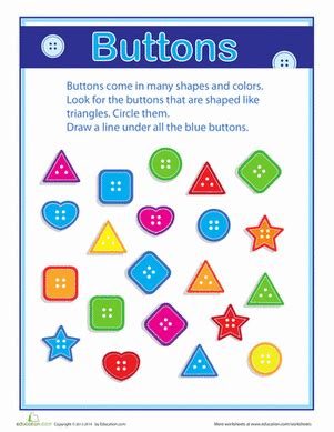 printable preschool sorting activities on the button grouping and sorting worksheet
