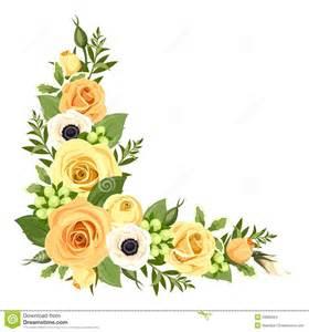 coin avec les roses jaunes illustration de vecteur