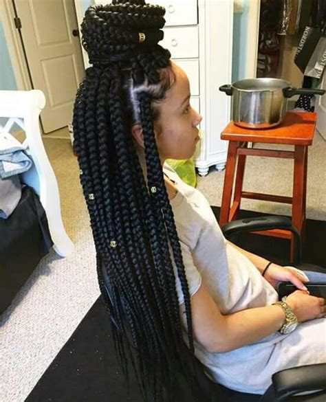 how much hair needed fluids box braids would you want to spend this much time on these chunky